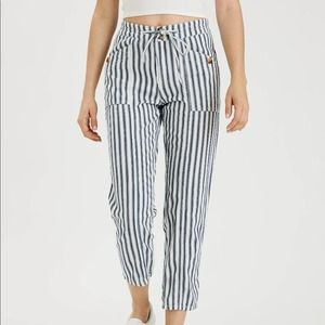 American Eagle High Waisted Tapered Striped Pants